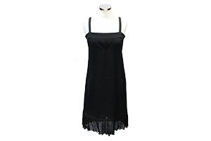 robe a bretelle chanel en viscose et elasthane noir bas finition plisse -  LaBoutiquedeKroll - Depot Vente Chic et Tendance 0802a32534c